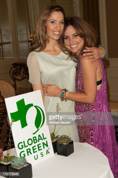Rainbeau Mars and Josie Maran attend Bridal Shower For Rainbeau Mars Benefiting Global Green at Four Seasons Hotel Los Angeles at Beverly Hills on...