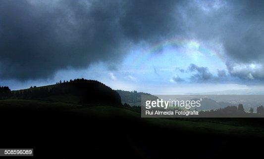 Rainbow after the rain : Stock Photo