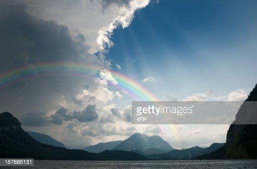 Regenbogen und schweren Sturm Bewegung in (XXXL