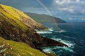 Rainbow At The Coast Of Slea Head In Ireland