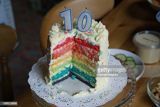 Rainbow birthday cake 10