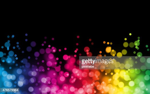rainbow bokeh background illustration : Stock Photo