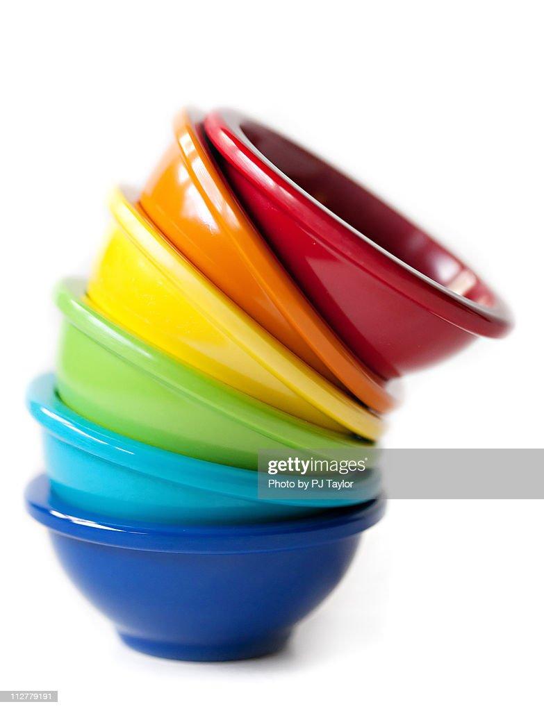 Rainbow Bowls : Stock Photo