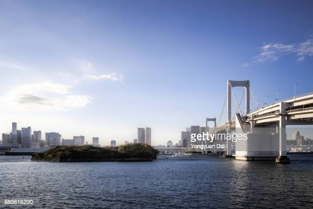 Rainbow Bridge and Tokyo Skyline