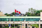 Canada toll plaza in front of Rainbow Bridge