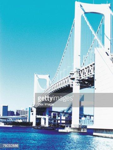 Rainbow Bridge, Tokyo Bay, Tokyo, Japan : Stock Photo