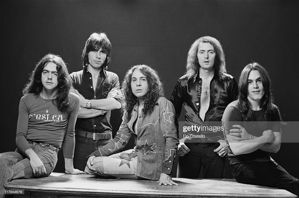 RAINBOW-WHITESNAKE Rainbow-british-rock-band-pose-for-a-group-studio-portrait-for-use-on-picture-id117044579