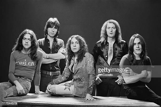Rainbow guitarist Ritchie Blackmore drummer Cozy Powell singer Ronnie James Dio keyboard player Tony Carey and bassist Jimmy Bain British rock band...