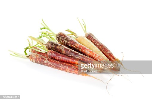 Rainbow carrots : Stock Photo