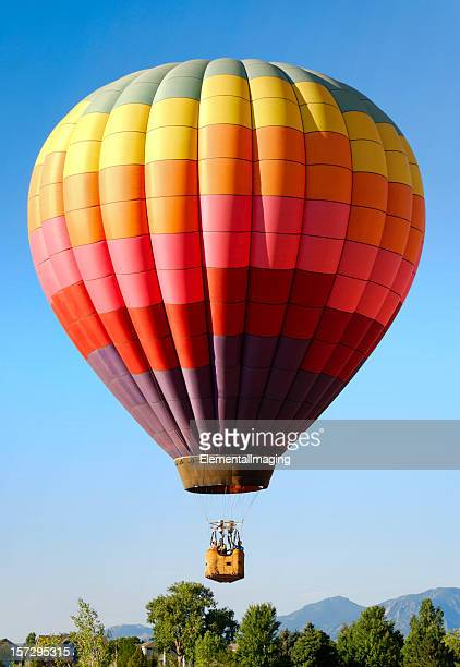 Rainbow Checkered Balloon Landing