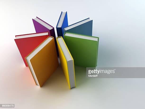 Rainbow circle from books