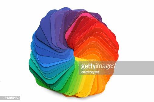 Rainbow muestra de colores