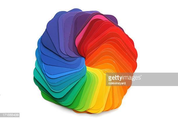 Échantillon de couleur arc-en-ciel