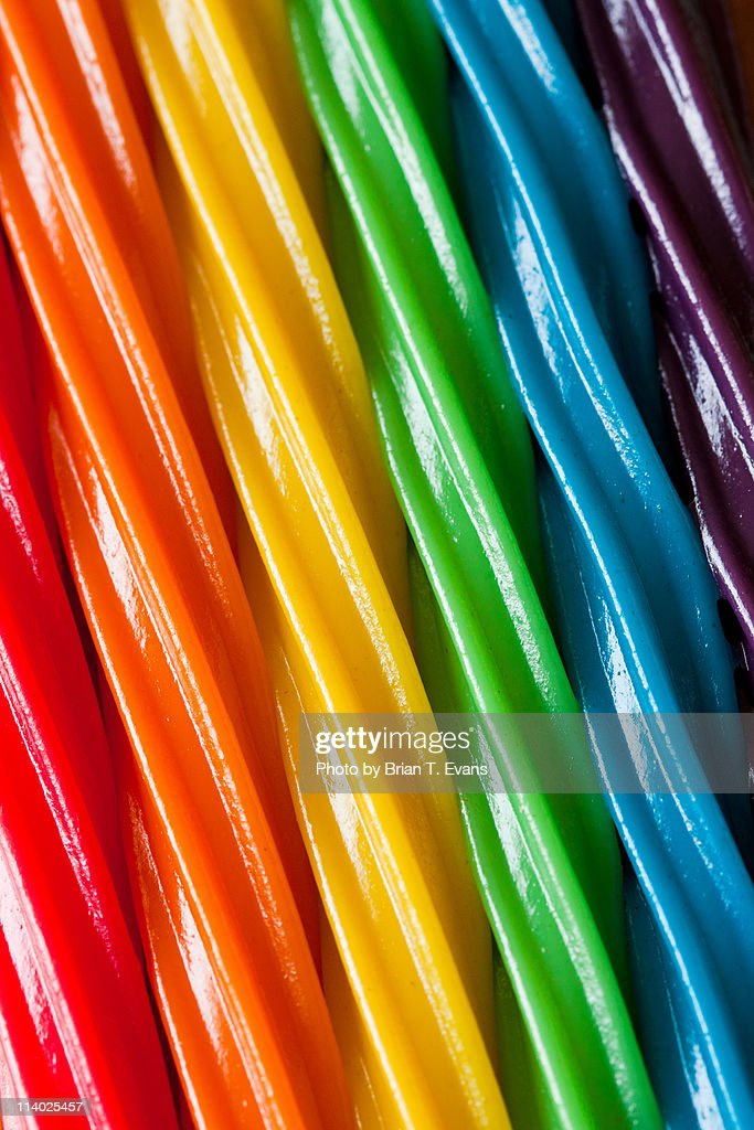 Rainbow colored candy
