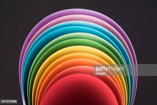 Rainbow Colored Paper in Arch Shape