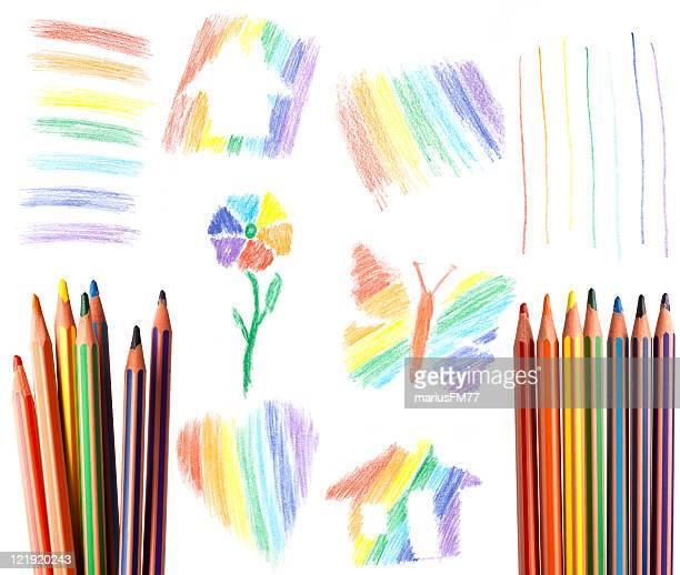 Éléments de couleur arc-en-ciel