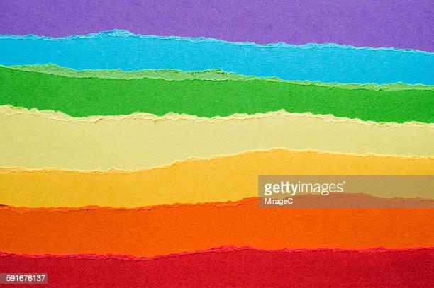 Rainbow Construction Paper Torn Pieces