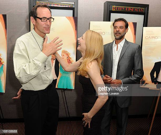 Rainbow Entertainment President and CEO Josh Sapan actress Patricia Clarkson and actor Alexander Siddig attend the premiere of 'Cairo Time' at Cinema...