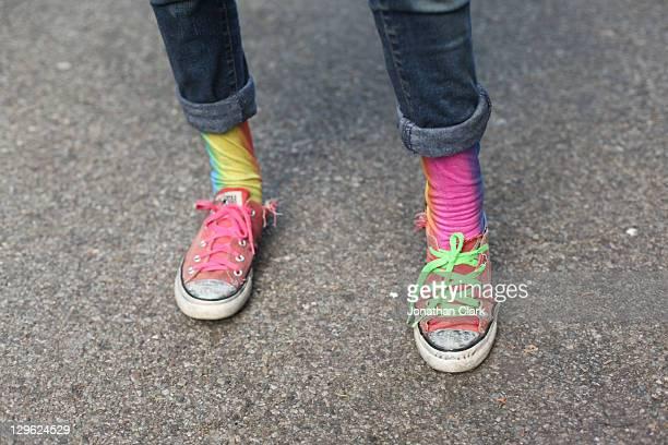 Rainbow feet