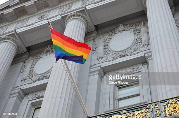 Rainbow flag at San Francisco City Hall