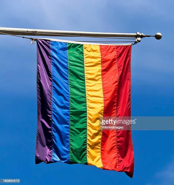 Bandera del arco iris de la comunidad LGBT de movimiento