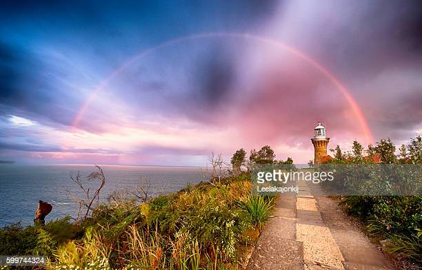 Rainbow from Barrenjoey in Palm beach
