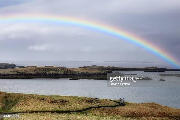 Rainbow in icelandic landscape