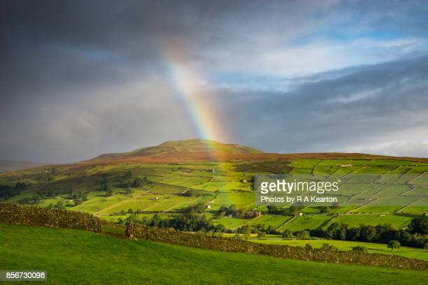 Rainbow in Swaledale, Yorkshire Dales, England
