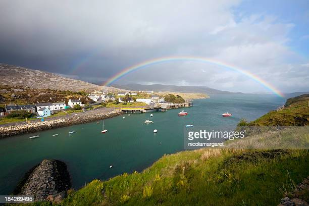 Rainbow in the Outer Hebrides: Tarbert, Isle of Harris