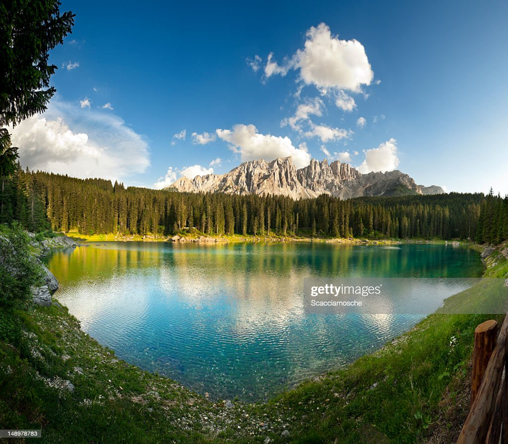 Rainbow lake in the Dolomites