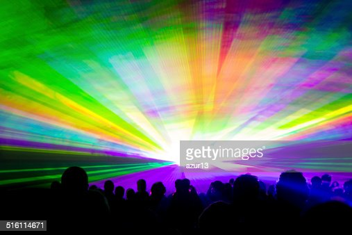 Rainbow laser show : Stock Photo