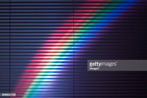 Rainbow on Window Blinds