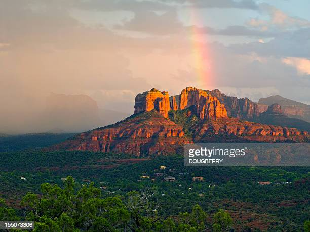 Rainbow over Arizona Scenery