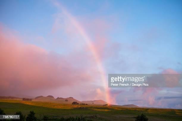 Rainbow over cinder cones, Kohala Mountain pastureslands