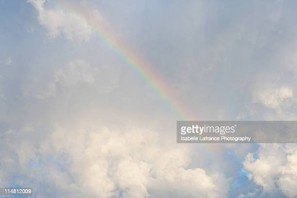 Rainbow over clouds