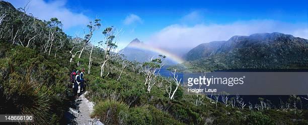 Rainbow over Dove lake.