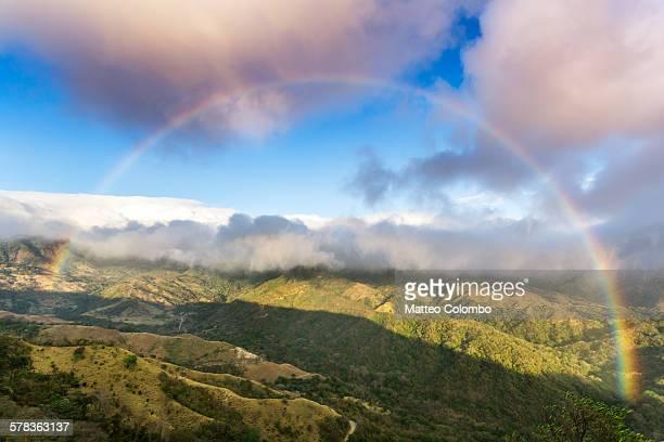 Rainbow over green valley, Monteverde, Costa Rica