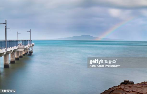 Rainbow Over Rangitoto Island.