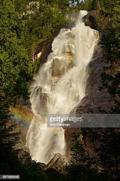 A rainbow over Shannon Falls in British Columbia Provincial Park Squamish British Columbia Canada June 16th 2013
