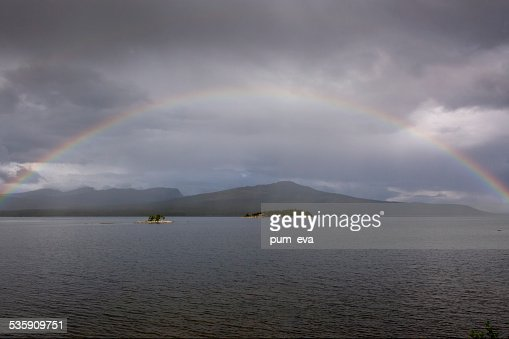Rainbow over the sea : Stock Photo