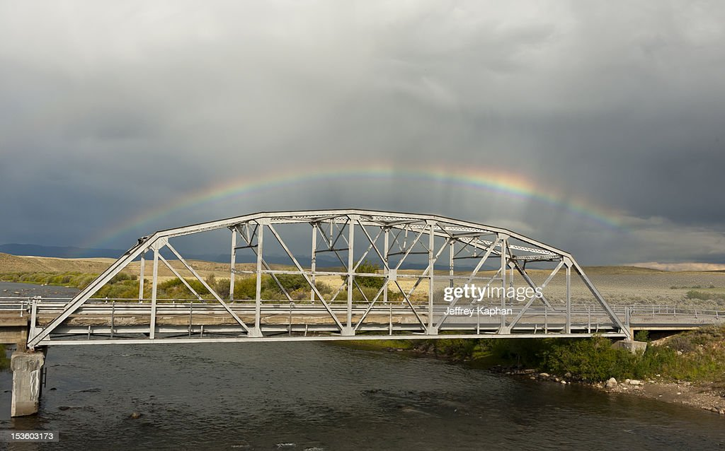 Rainbow over Warren Bridge