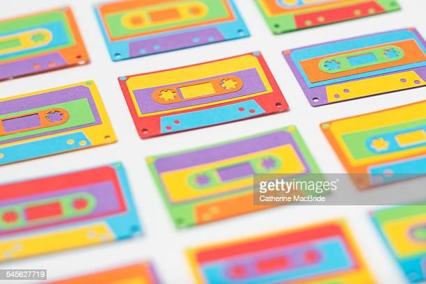 Rainbow paper-cut cassette tapes...