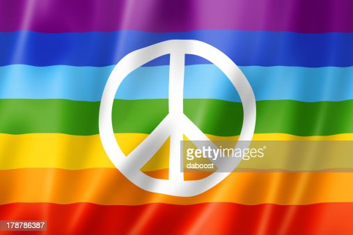 Rainbow peace flag : Stock Photo