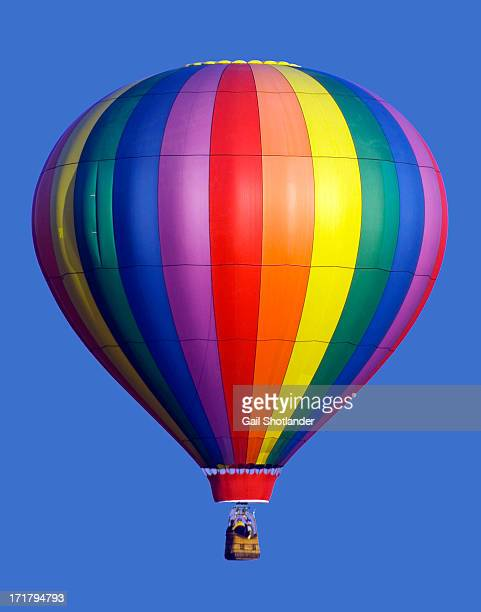 Rainbow Stripes on Hot Air Balloon