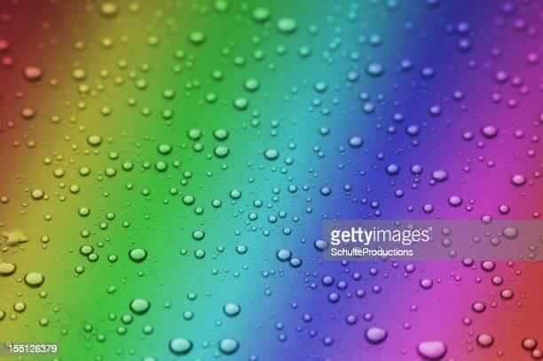Rainbow Water Rain Background