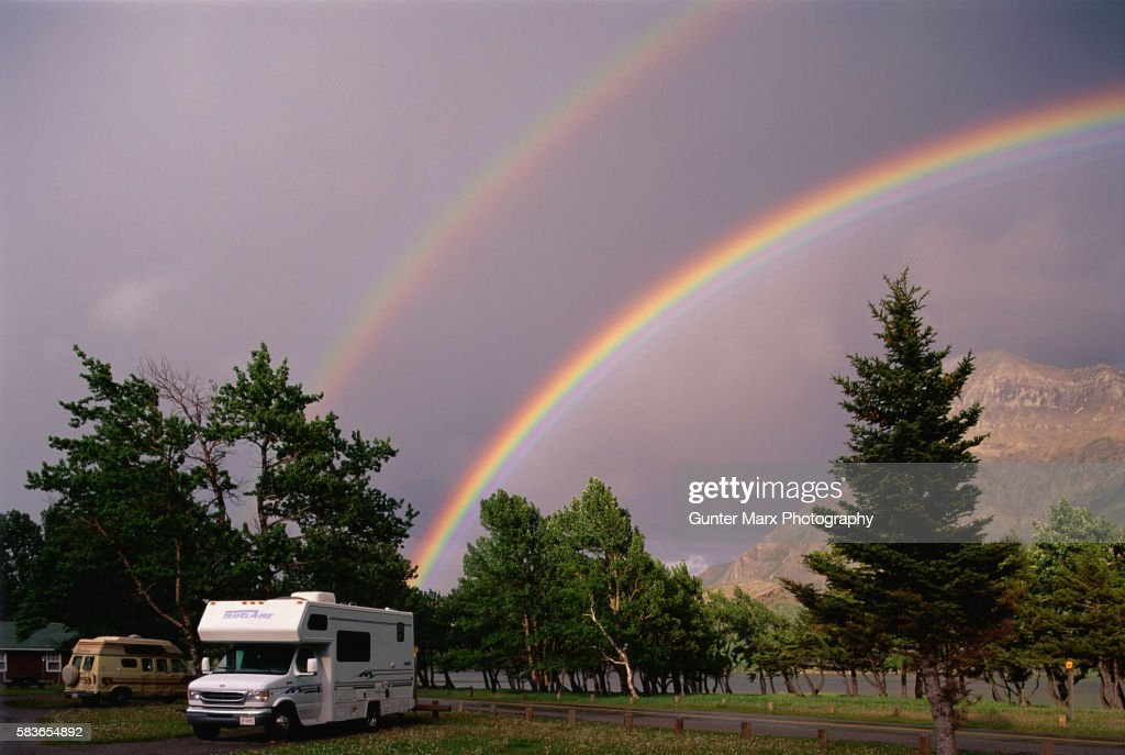 Rainbows Above R.V. Park