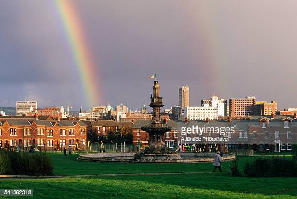 Rainbows from Dunville Park in Belfast