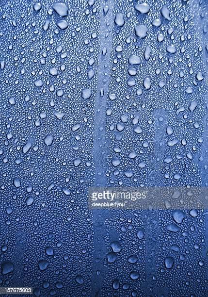 Pingos de Chuva com fundo azul metall