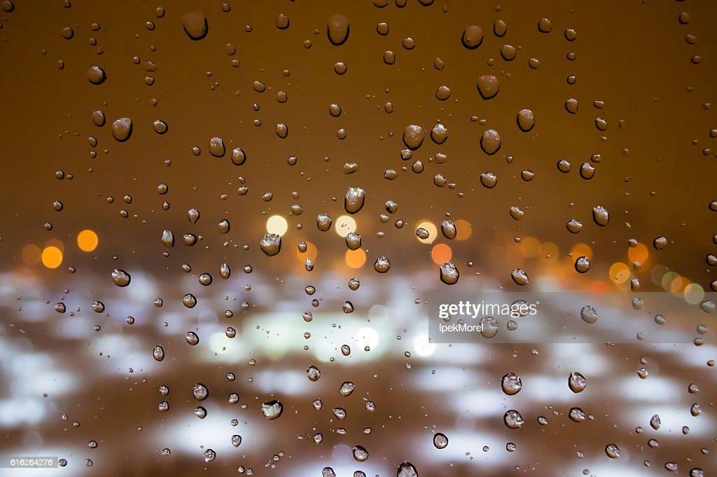 Raindrops on the Window : Stock Photo