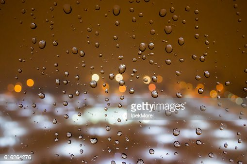 Raindrops on the Window : Stock Photo